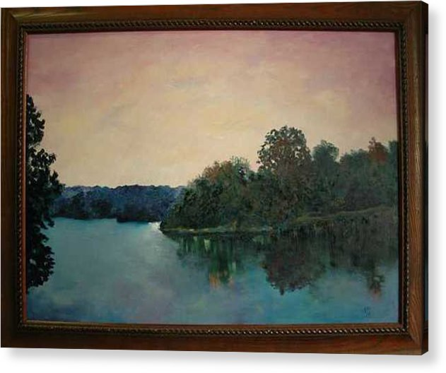 Water Acrylic Print featuring the painting Copper Creek Afternoon by James Eugene Moore