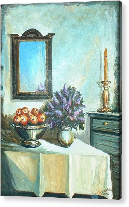 Stil Life Acrylic Print featuring the painting Old Memories 2 by Sinisa Saratlic