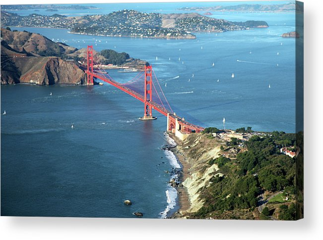 Horizontal Acrylic Print featuring the photograph Golden Gate Bridge by Stickney Design
