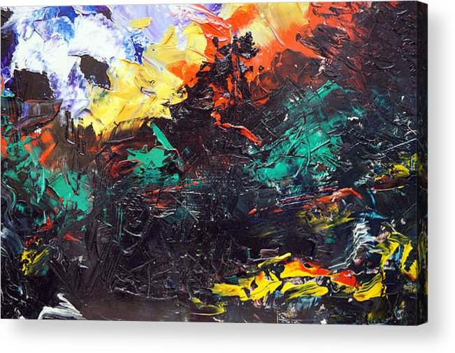 Vision Acrylic Print featuring the painting Schizophrenia by Sergey Bezhinets