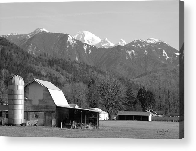 Black Acrylic Print featuring the photograph Mt. Baker Wine Country by J D Banks