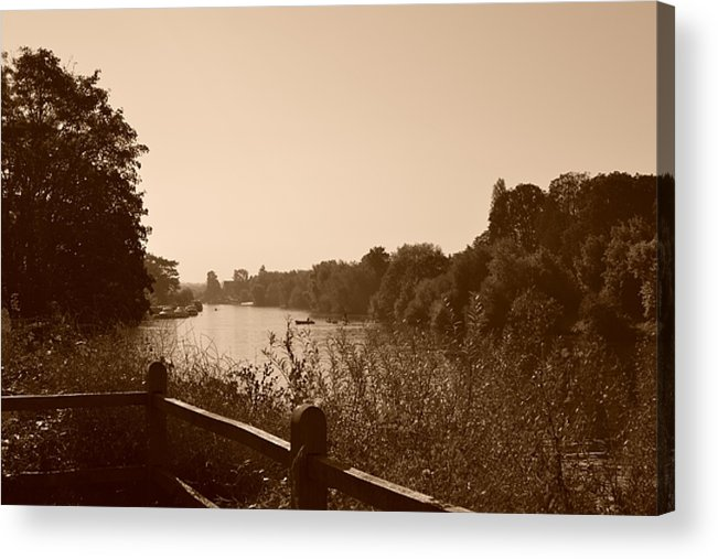 River Acrylic Print featuring the photograph Summer View Of The River Thames by Helen Esdaile