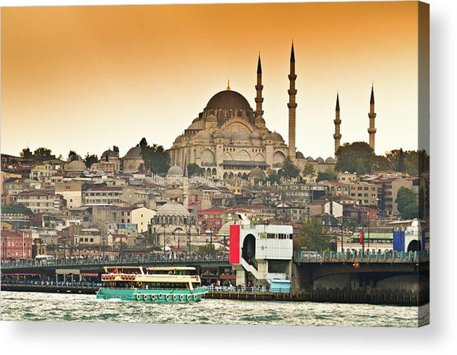 Horizontal Acrylic Print featuring the photograph View Of Istanbul by (C) Thanachai Wachiraworakam