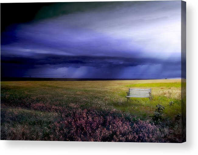 Prairie Acrylic Print featuring the photograph What If... by Yvonne Emerson