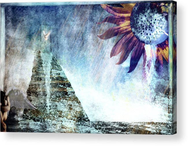Tears Acrylic Print featuring the photograph When Heaven Cries by Yvonne Emerson