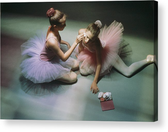 Color Image Acrylic Print featuring the photograph Ballerinas Get Ready For A Performance by Richard Nowitz