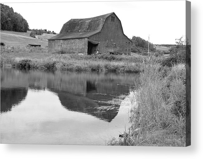 Barn Acrylic Print featuring the photograph Reflection by Lisa Hebert