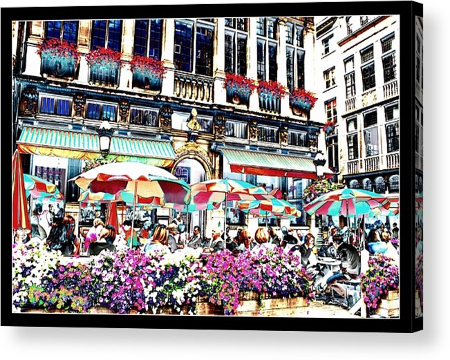Brussels Acrylic Print featuring the photograph Sunny Day On The Grand Place by Carol Groenen