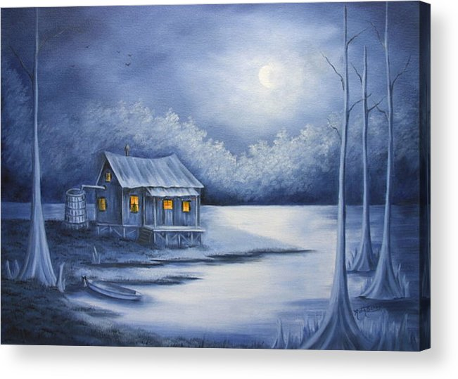 Seascape Acrylic Print featuring the painting Cajun Christmas by Ruth Bares