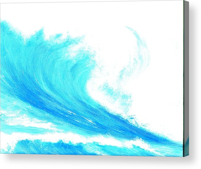 Surf Acrylic Print featuring the painting In My Dreams by Laura Johnson