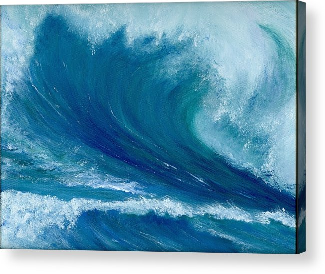 Wave Acrylic Print featuring the painting Winter Wave by Laura Johnson