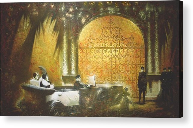 Figures Acrylic Print featuring the painting Gate To Hollywood by Andrej Vystropov