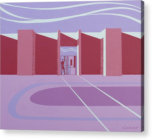 Architectural Acrylic Print featuring the painting Architectural Le Modulor by James Cordasco