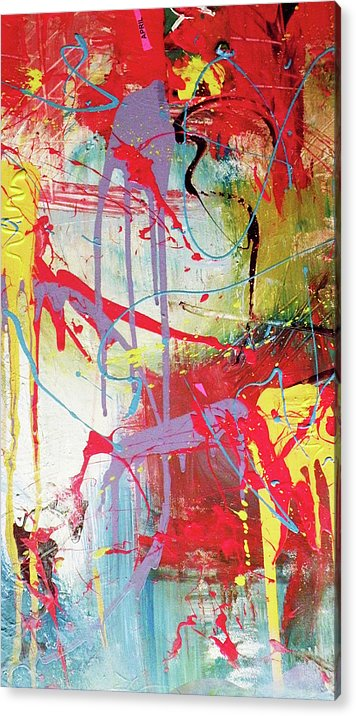 Abstract Landscape Acrylic Print featuring the painting Love In Space by Robert Daniels