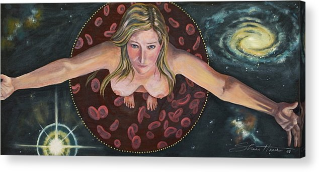 Woman Art Acrylic Print featuring the painting Sacred Circle II by Sheri Howe