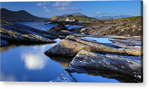 Cromwell Point Lighthouse Acrylic Print featuring the photograph Cromwell Point Lighthouse Valentia Island by Stefan Schnebelt