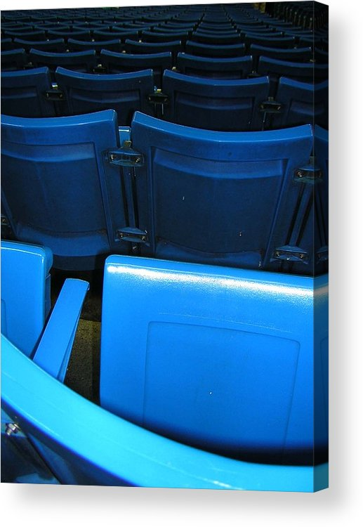 Blue Jays Acrylic Print featuring the photograph Blue Jay Seats by Heather Weikel