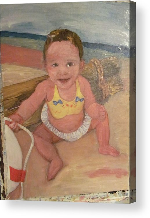 Daughter Acrylic Print featuring the painting Jessie's Girl by David Poyant