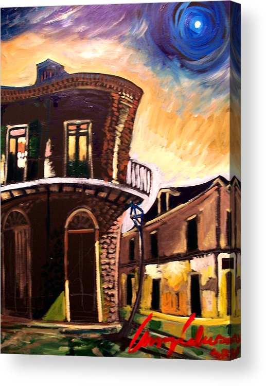 Cityscape Acrylic Print featuring the painting Royal St Sunrise 2 by Amzie Adams