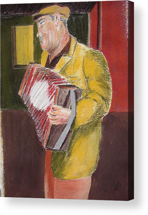 Figure Acrylic Print featuring the painting The Entertainer by Joe Lanni