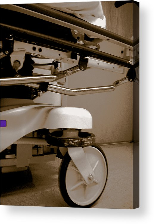 Hospital Acrylic Print featuring the photograph Wheel by Heather Weikel