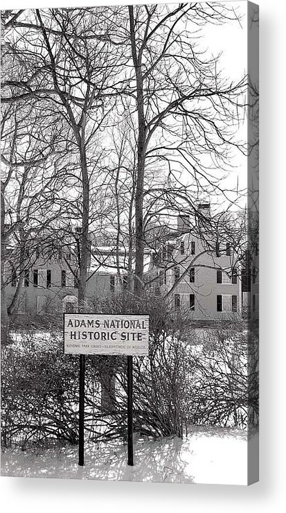 John Quincy Adams Acrylic Print featuring the photograph John Quincy Adams House Ll by Heather Weikel