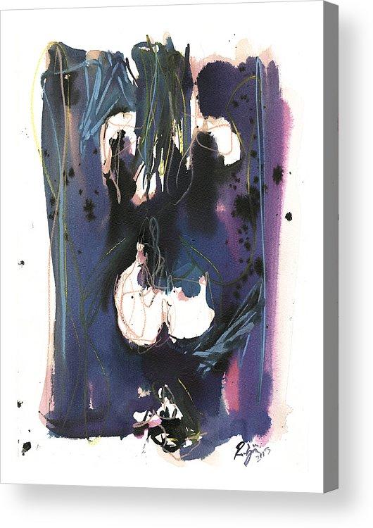 Figure Acrylic Print featuring the painting Kneeling by Robert Joyner
