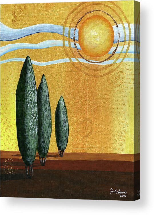 Acrylic Canvas Acrylic Print featuring the painting Better Days by The Art Of JudiLynn