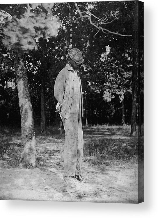 Historical Acrylic Print featuring the photograph Anonymous African American Lynching by Everett