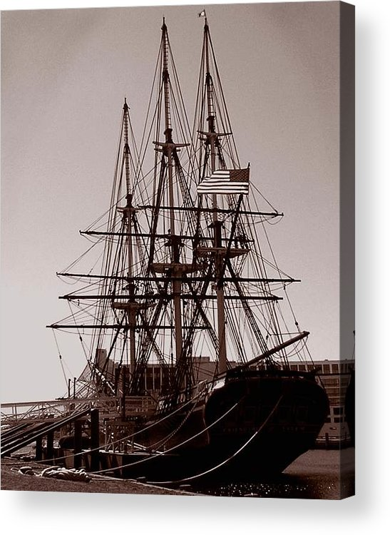 Salem Acrylic Print featuring the photograph Friendship Salem by Heather Weikel