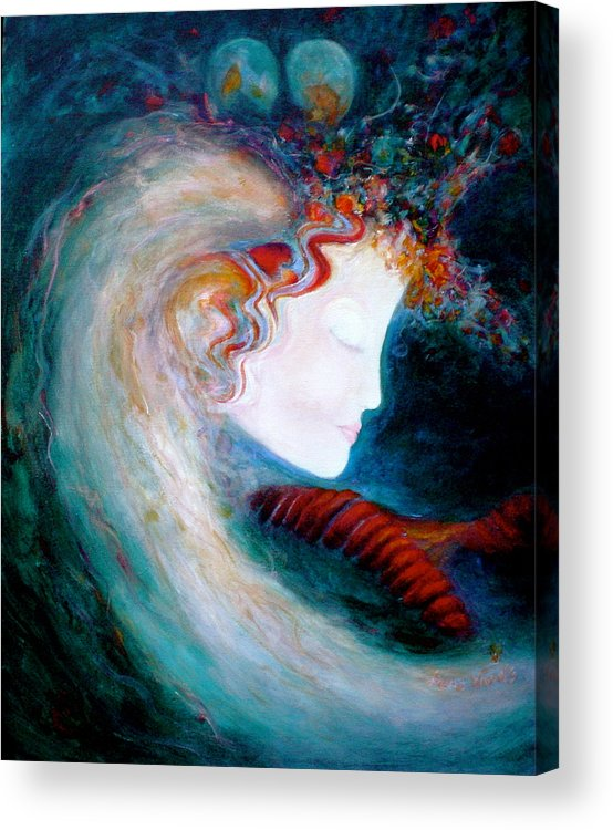 Goddess Acrylic Print featuring the painting Penny by Diane Woods