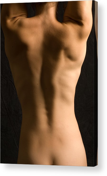 Nude Acrylic Print featuring the photograph Bare Back Torso by David Thompson