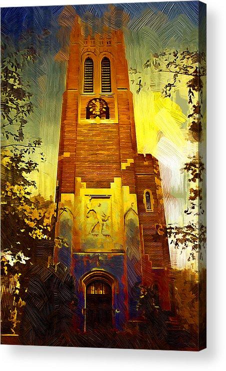 Michigan State University Acrylic Print featuring the photograph Beaumont Tower by Paul Bartoszek