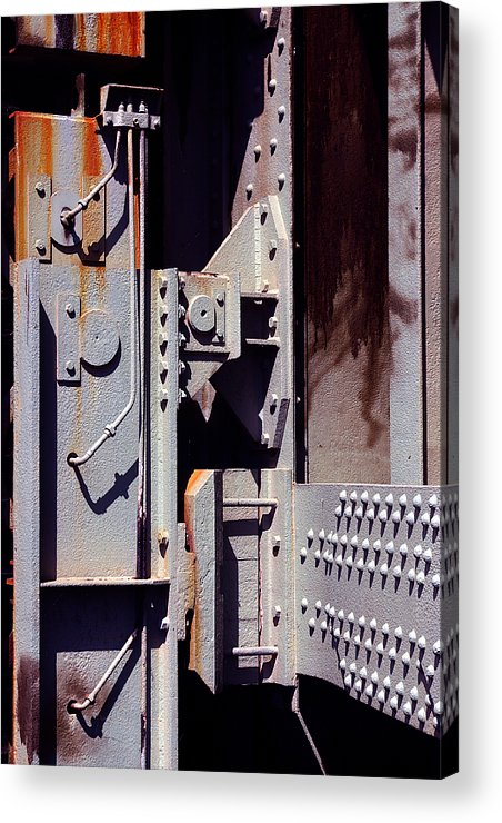 Abstract Acrylic Print featuring the photograph Industrial Background by Carlos Caetano