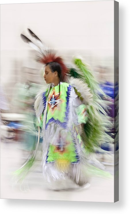 Pow-wow Acrylic Print featuring the photograph Little Wind Dancer by Paula Fankhauser