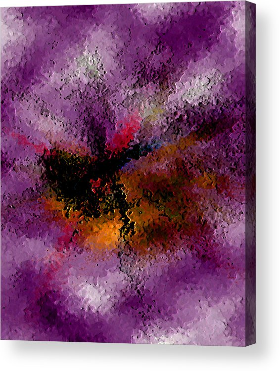 Abstract Acrylic Print featuring the digital art Damaged But Not Broken by Ruth Palmer