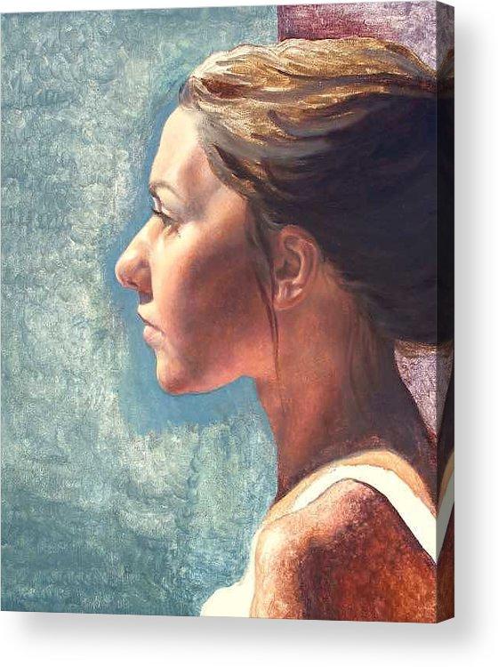 Portrait Acrylic Print featuring the painting Fresh Pose by Deborah Allison
