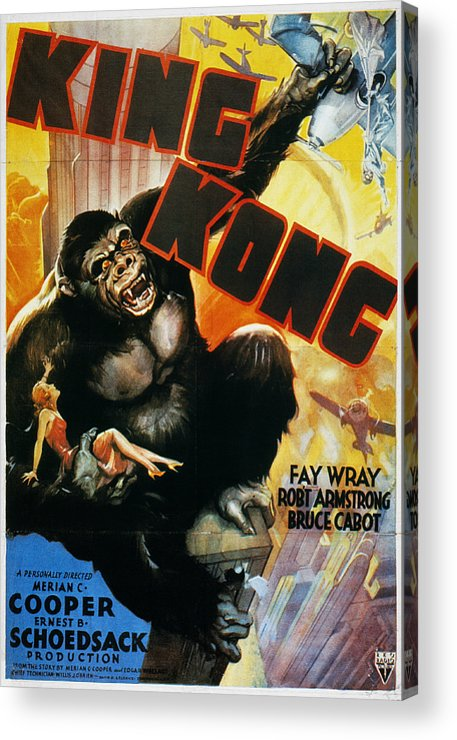 1933 Acrylic Print featuring the photograph King Kong Poster, 1933 by Granger