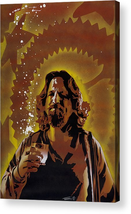 Pop Acrylic Print featuring the painting The Dude by Tai Taeoalii