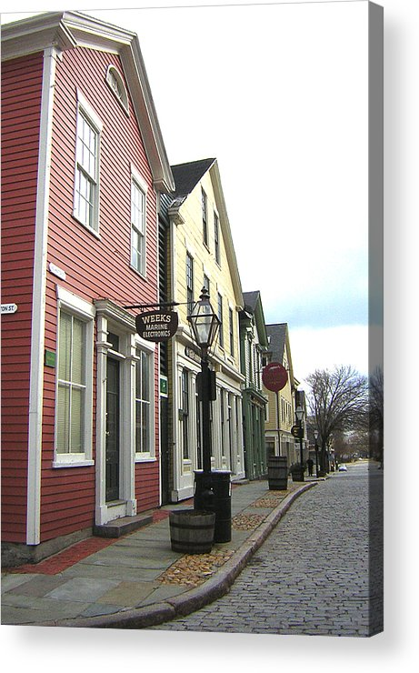 Street Acrylic Print featuring the photograph New Bedford Street by Heather Weikel