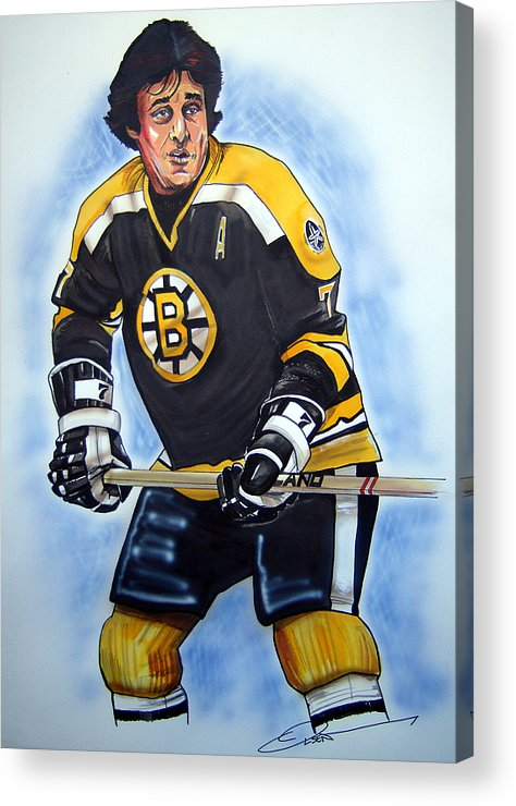 Nhl Acrylic Print featuring the painting Phil Esposito by Dave Olsen