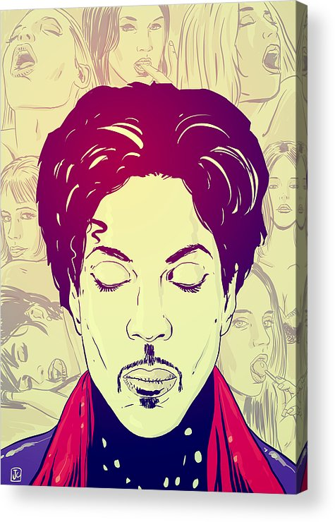 Prince Acrylic Print featuring the drawing Prince by Giuseppe Cristiano