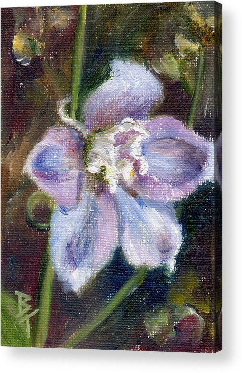 Flower Acrylic Print featuring the painting Sweet Bloom Aceo by Brenda Thour