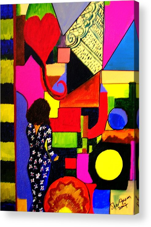 Modern Acrylic Print featuring the painting Eclectic Mix by Sher Green
