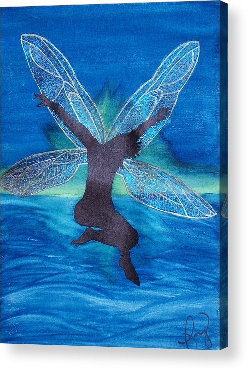 Fairy Acrylic Print featuring the painting Elation by Amy Lauren Gettys
