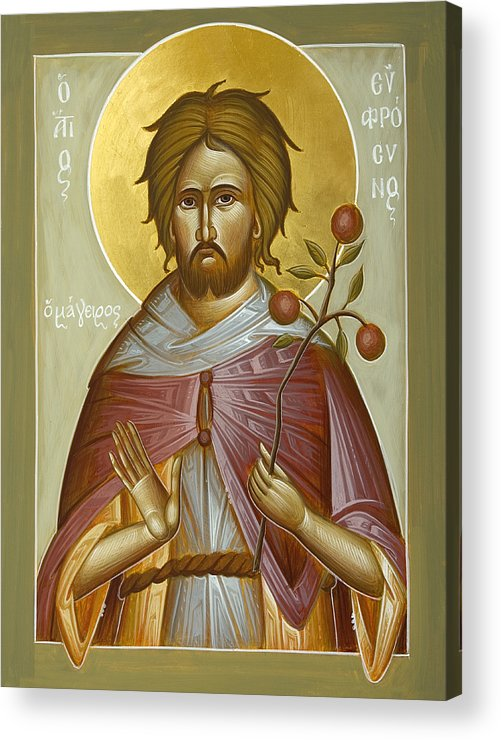 St Euphrosynos The Cook Acrylic Print featuring the painting St Euphrosynos The Cook by Julia Bridget Hayes