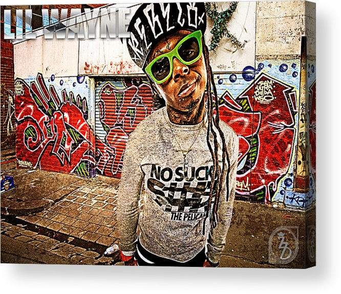 Little Wayne Acrylic Print featuring the digital art Street Phenomenon Lil Wayne by The DigArtisT