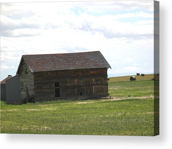 Landscape Acrylic Print featuring the photograph Grassland Farm by Margaret Fortunato