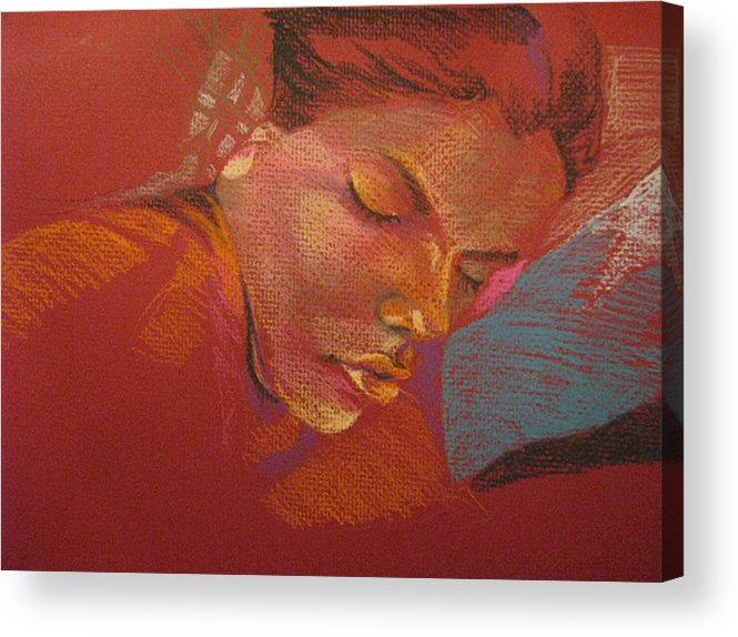 Acrylic Print featuring the drawing Sleeping Figure by Julie Orsini Shakher