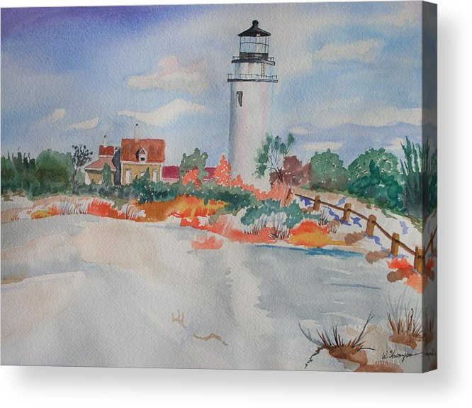 Snow Acrylic Print featuring the painting Snow Light At Cape Cod by Warren Thompson